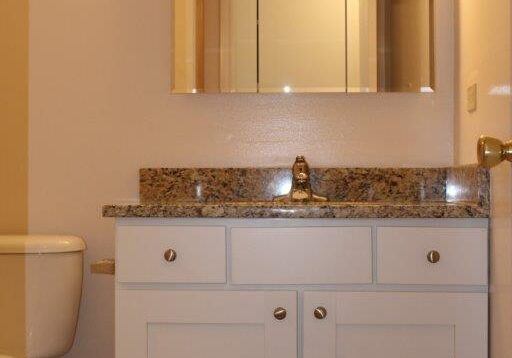 Remodel white cabinets granite counter tops 110317 005